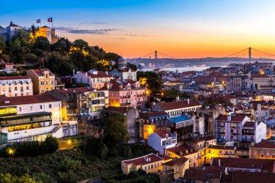 Image Lisbonne à la nuit