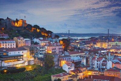 Image Lisbonne. Image de Lisbonne, portugal, pendant, crépuscule, bleu, heure.