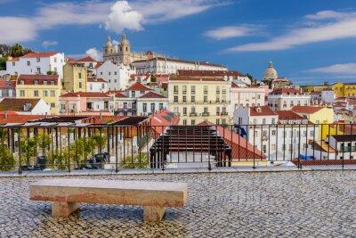 Image Lisbonne paysage urbain - architecture traditionnelle, Alfama district, Lisbonne, Portugal.
