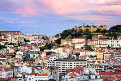 Image Lisbonne, Portugal, vue sur le quartier d'Alfama et Saint-Georges Castl