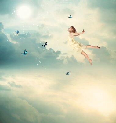 Image Little Girl vol au crépuscule
