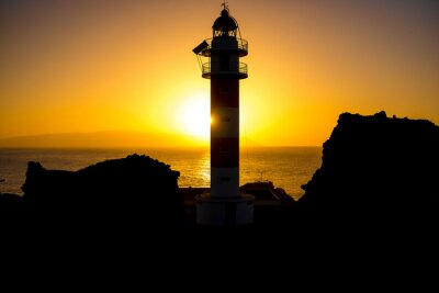 Image Littoral, phare, silhouette