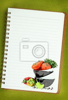Image Livre De Recettes Legumes Peinture Sur La Page De Cahier Vierge