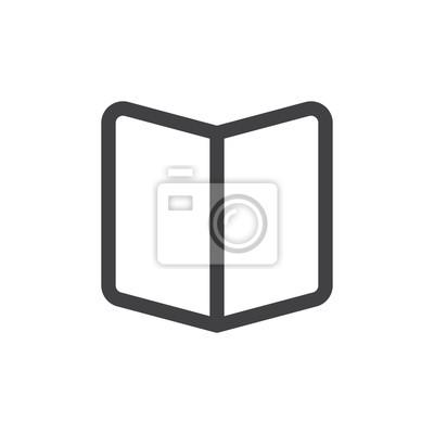 Image Livre Ligne Ouverte Icone Simple Signe Vectoriel De Contour