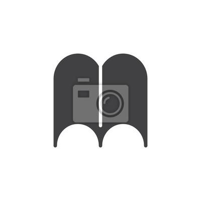 Image Livre Ouvert Page Icone Vecteur Rempli De Signe Plat Pictogramme