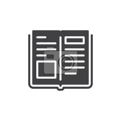 Image Livre Vecteur Dicone Signe Plat Rempli Pictogramme Solide
