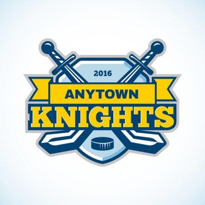 Image Logo de l'équipe des chevaliers du hockey sur glace.