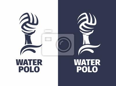 Image Logo de vecteur professionnel signe logo water polo