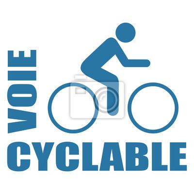 Logo Voie Cyclable Peintures Murales Tableaux Piste Cyclable Lane Velo Myloview Fr