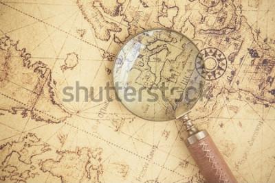 Image Loupe, cartes, finances, affaires, tourisme, exploration