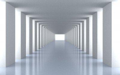 Image lumière blanche du tunnel