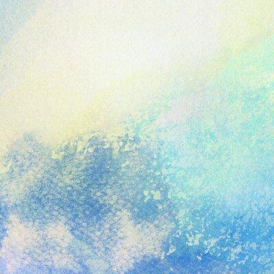 Image Lumière, résumé, bleu, peint, aquarelle, éclaboussures, fond
