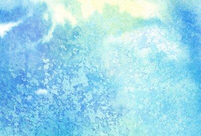 Image Lumière, résumé, bleu, peint, aquarelle, éclaboussures, nuage, ciel