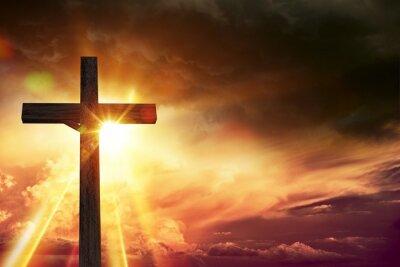 Image Lumières de bénédiction de crucifix