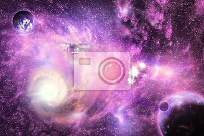 Lumineux de la galaxie de l'espace