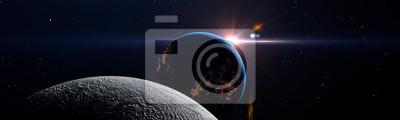 Image Luna eclipse in space
