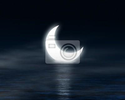 Lune sur l'eau