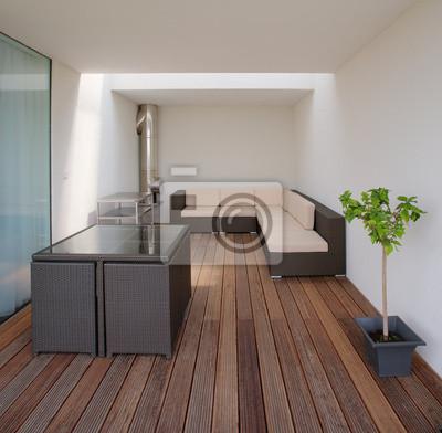 luxe moderne dans une terrasse privée