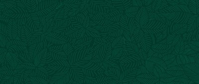 Image Luxury Nature green background vector. Floral pattern, Tropical plant line arts, Vector illustration.
