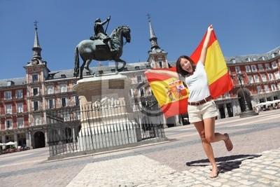 Madrid touristique drapeau de l'espagne