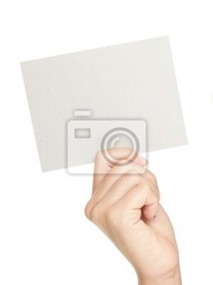 Main montrant signe de papier