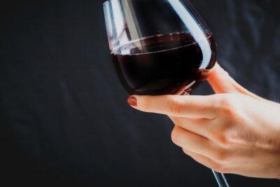 Image Main, tenue, verre, rouge, vin, gris, fond