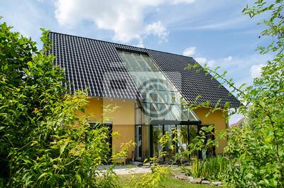 Maison Avec Jardin Dhiver Peintures Murales Tableaux Domotique