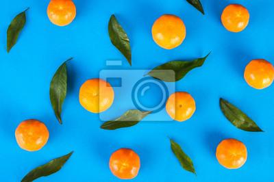 Mandarines, clair, fond