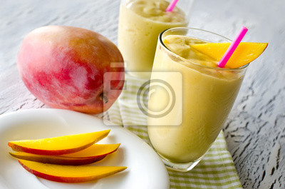 Mangue Smoothie tropical sain horizontal