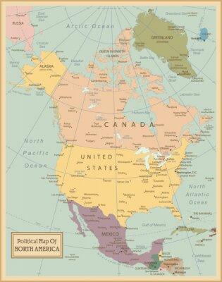 Image Map.Layers Amérique du Nord très détaillés utilisés