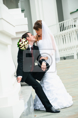 marié et la mariée heureuse. Amour tendresse sentiment du couple de mariage