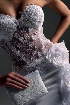 Image mariée luxe en robe moulante, catalogue photo
