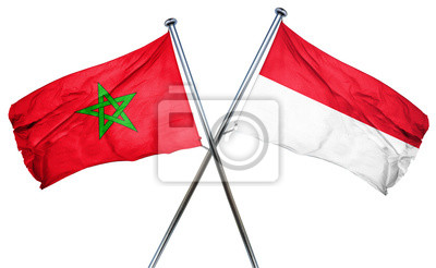 Drapeau De L Indonésie maroc, drapeau, indonésie, drapeau, 3d, rendre peintures murales