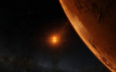 Image Mars illustration scientifique - paysage planétaire