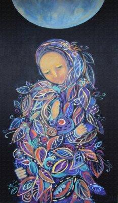 Image Maternité. Leaf Pattern.