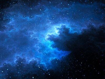 Image Mégalique espace nébuleuse fractale avec étoiles