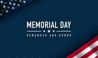 Image Memorial Day Background Design. Vector Illustration.