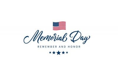 Image Memorial Day text with lettering