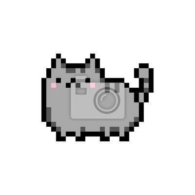 Image Mignon Chaton Intérieur Animal Familier Pixel Art
