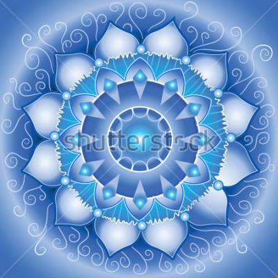 Image modèle abstrait bleu vikuddha chakra