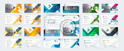 Image Modèle de carte de visite créative de vecteur avec triangles, carrés, rondes, vagues pour les affaires, technologie. Un design simple et propre avec un logo et un endroit pour une photo. Création d'id