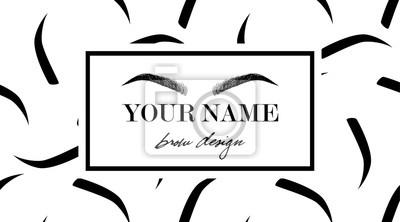 Image Modele De Carte Visite Logo Conception Sourcil Avec Le