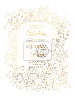 Image Modèle De Carte Vintage Invitation Mariage Mariage événement