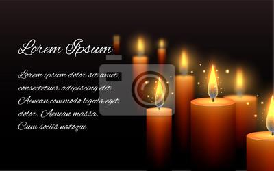 Modele Lettre Condoleances Bruler Bougie Sombre Peintures Murales Tableaux Necrologie Consoler Bougeoir Myloview Fr