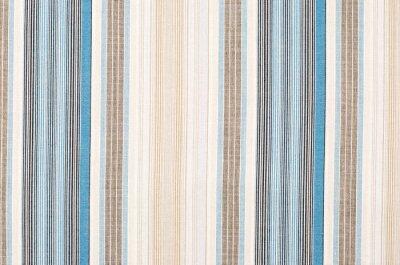 Image Modèle rayé de tissu bleu et brun comme fond. Close up sur les différentes bandes verticales tissus tissu de texture.