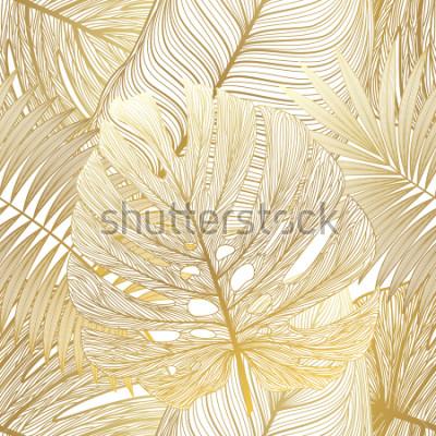 Image Modèle sans couture avec palmier tropical. Illustration vectorielle