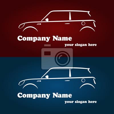 Image Modeles De Logos Lentreprise Automobile Carte Visite Silhouette Moderne