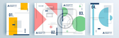 Image Modern abstract covers set, minimal covers design. Colorful geometric background, vector illustration.