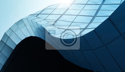 Image Modern architecture business building abstract curve line details steel facade background .