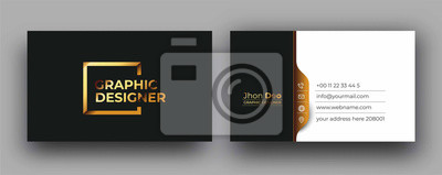 Image Modern Business Card - Creative and Clean Business Card Template.